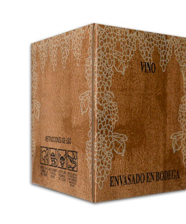 bag in box de vino caja de madera