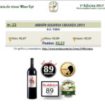 Wine Up! 2017 En los top 100 ABDON SEGOVIA CRIANZA 2011